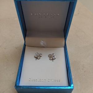 Four Leaf Clover Stud Sterling Silver earrings